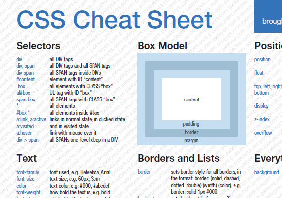 5 css cheat sheets every developer should keep handy thomas craig practical css cheat sheet malvernweather Images